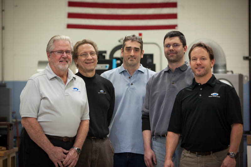 The Mako Mold team - Phil, Dave, Nick, Chris, and Mike (l-r)